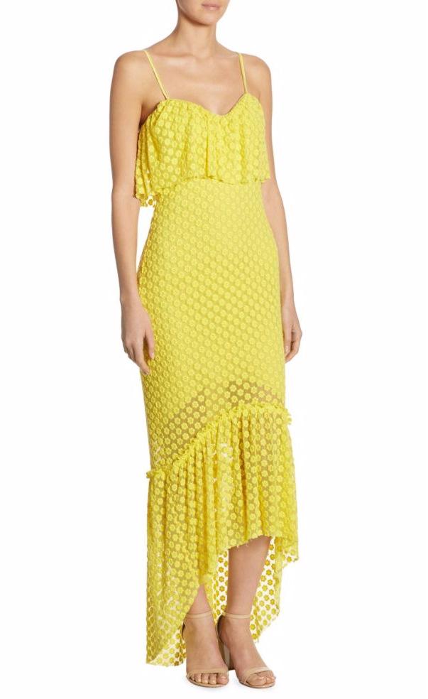 Yellow Summer Dress with Hi Low Hem