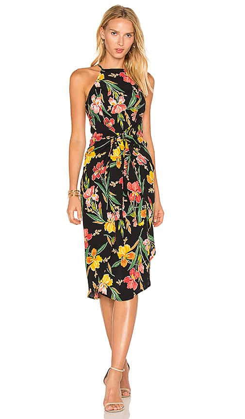 Black Floral Midi Dress for June 2017