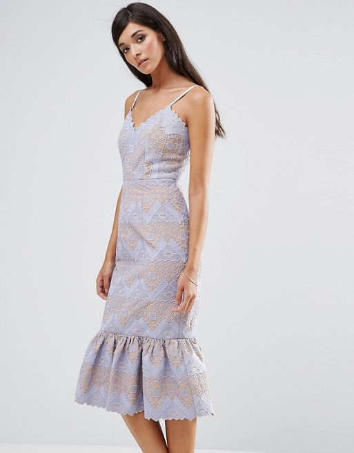 Lavender Wedding Guest Cocktail Style Dress