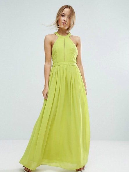 Lime Green Modern Maxi Dress for June 2017