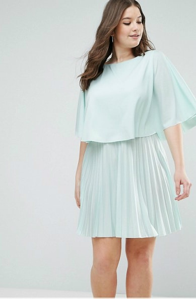 Cute Plus Size Mint Dress for a Wedding Guest