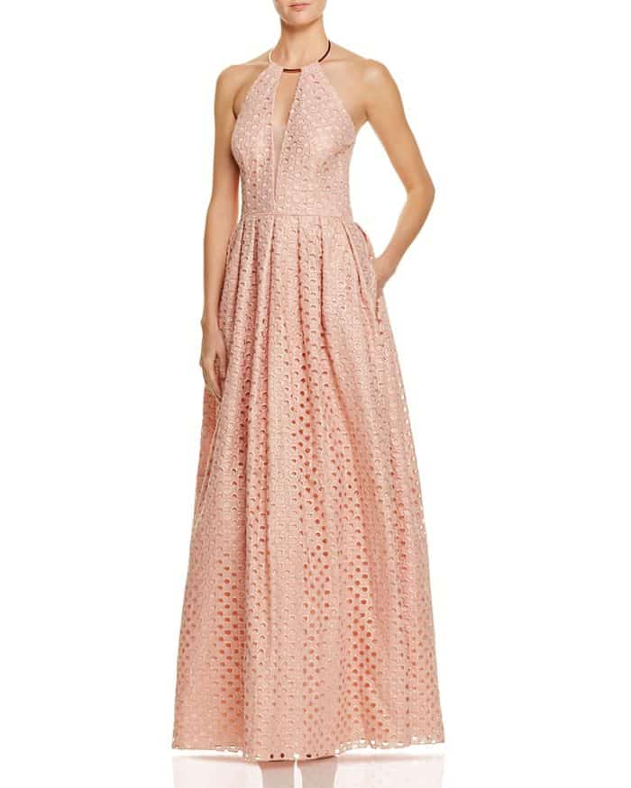 Rose Gold Gown for Black Tie June Wedding Guest