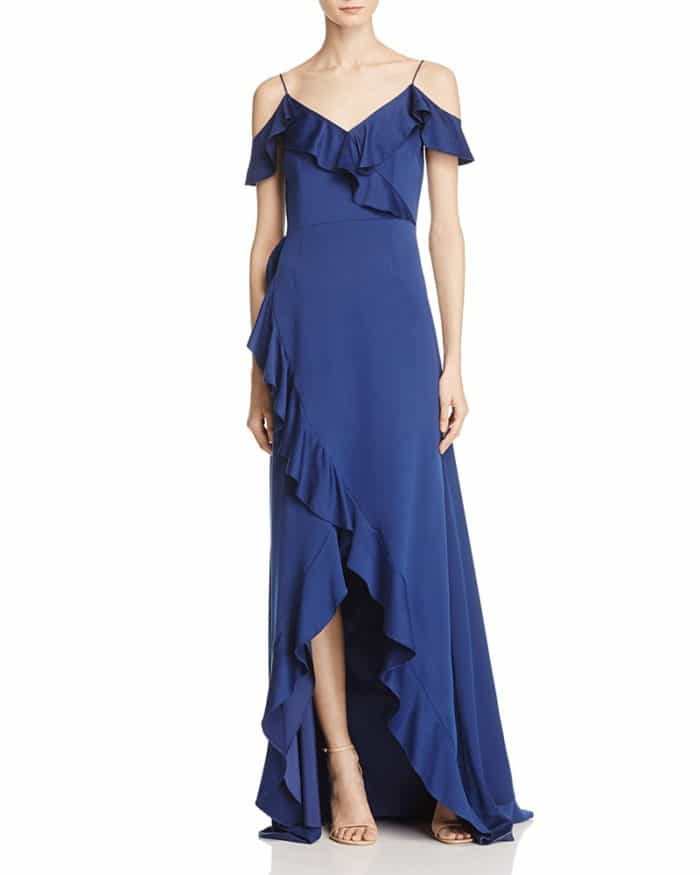Royal Blue Formal Gown for a Wedding