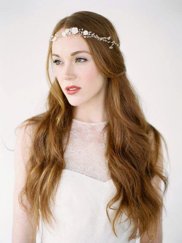 Boho Style Bridal Headband by Tania Maris