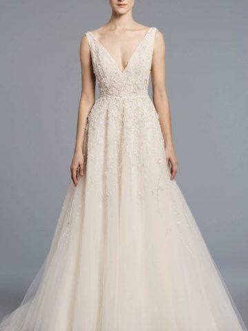 Beaded Wedding Dress Franscoise by Anne Barge