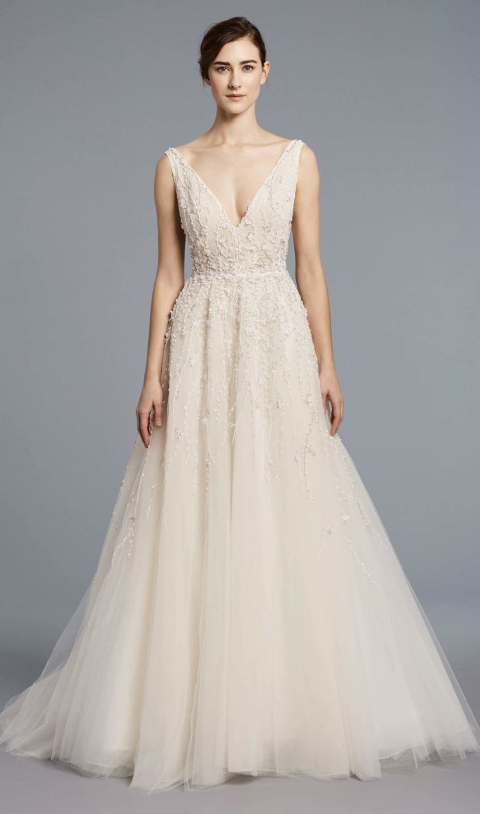 Beaded Wedding Dress Franscoise by Anne Barge