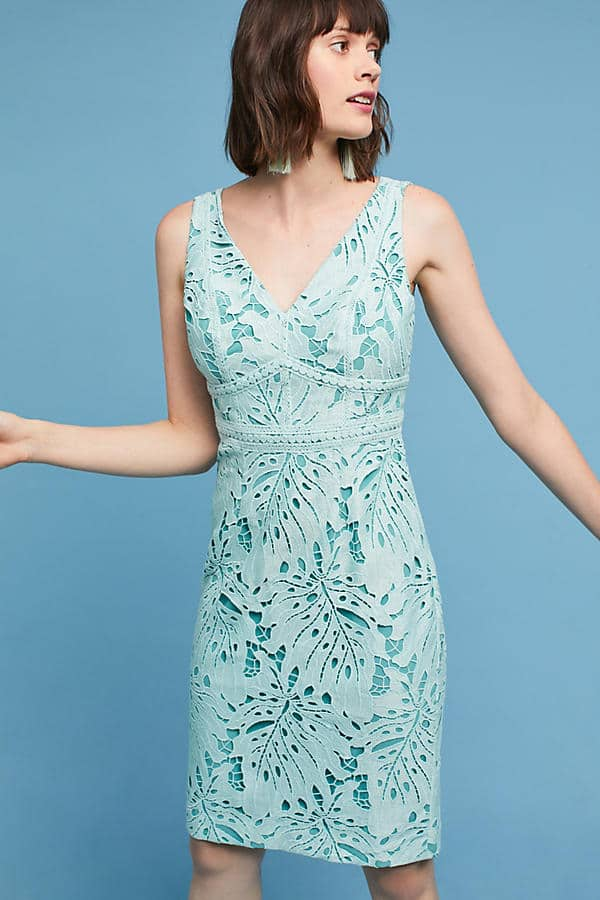 Mint Green Lace Dress