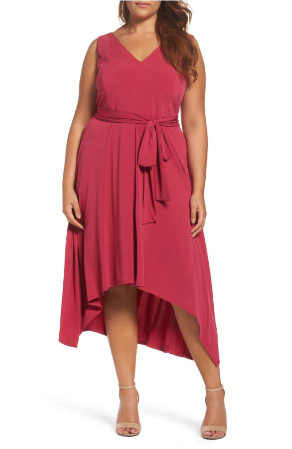 Red Plus Size Dress for Wedding Guest