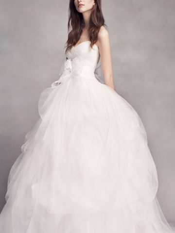 Strapless Tulle Wedding Dress by White by Vera Wang