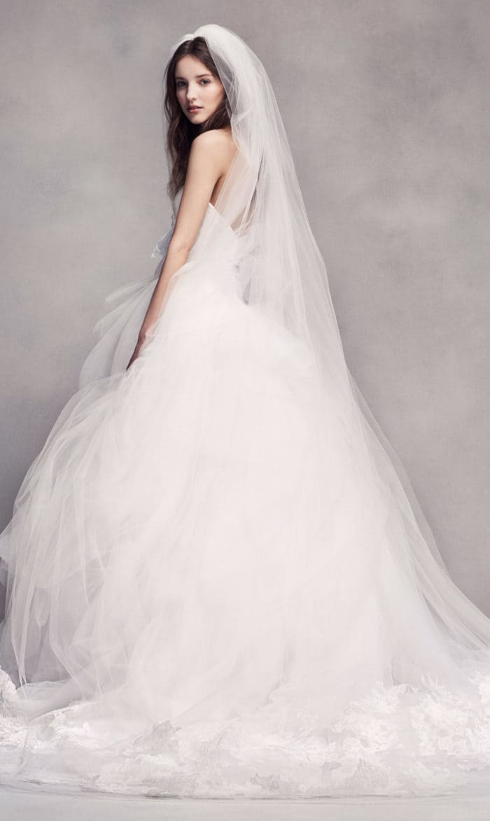 Strapless tulle ballgown wedding dress from white by vera for Best vera wang wedding dresses