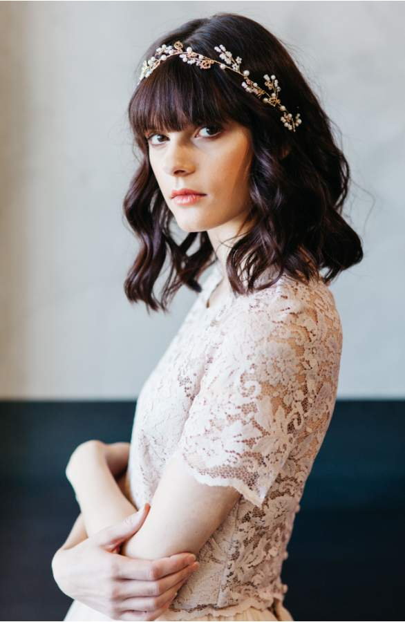 Vine style bridal headpiece , hairstyle ideas for weddings
