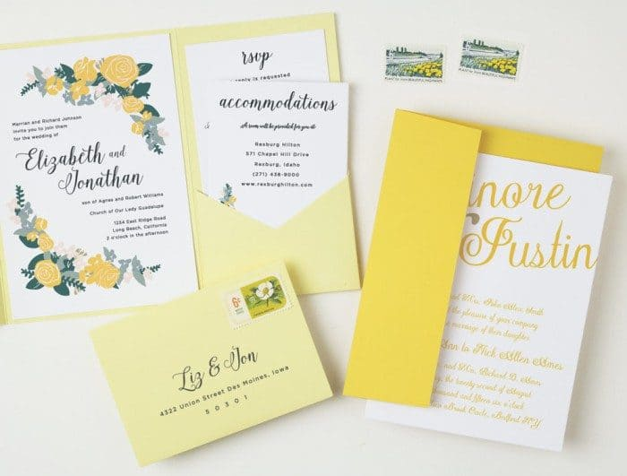 Custom Color Wedding Invitations