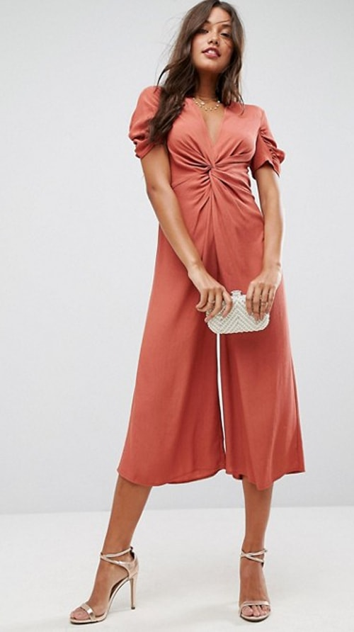 Dressy jumpsuit for fall events and weddings