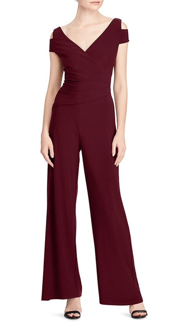 Petite Burgundy Jumpsuit for Wedding