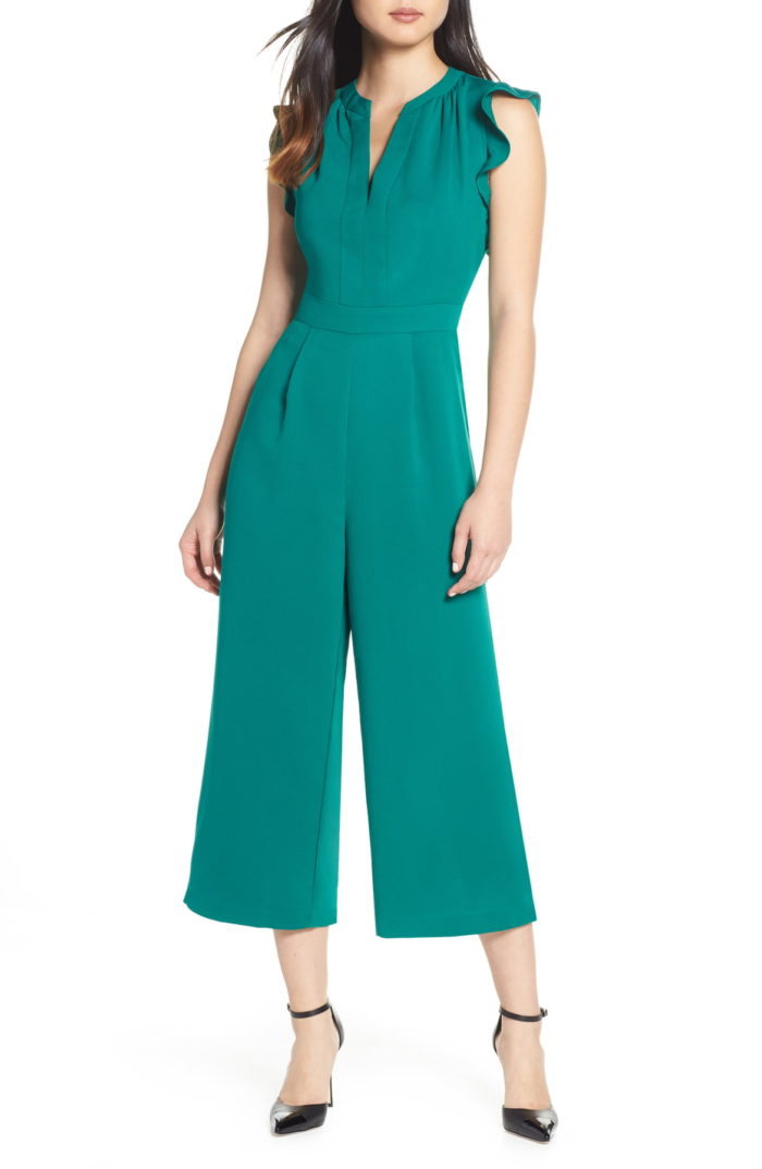 Green jumpsuit to wear to a wedding