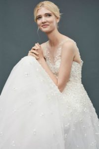 Callie by Amsale | A Floral Embroidered Ballgown Wedding Dress 2017