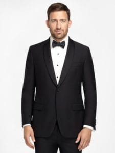 Black One-Button Tuxedo