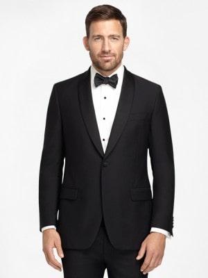 Black One-Button Tuxedo