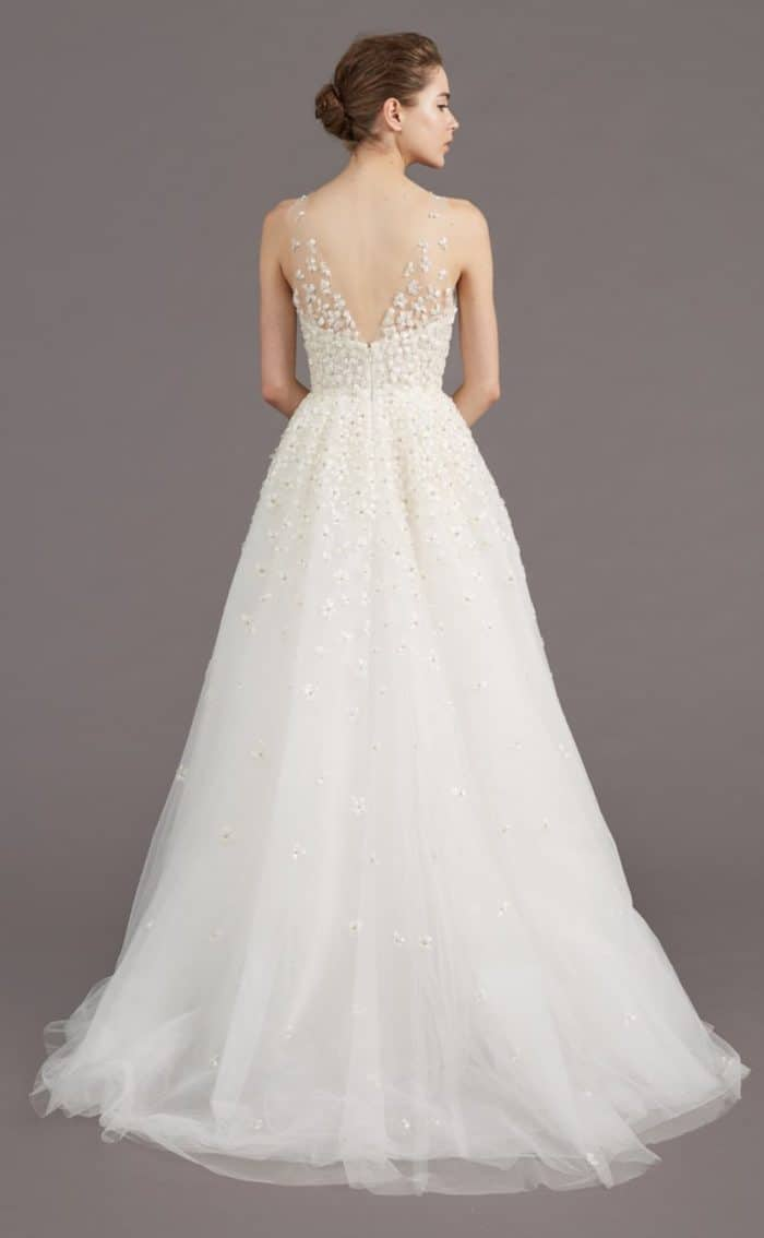 Back of Callie wedding dress by Amsale Fall 2017