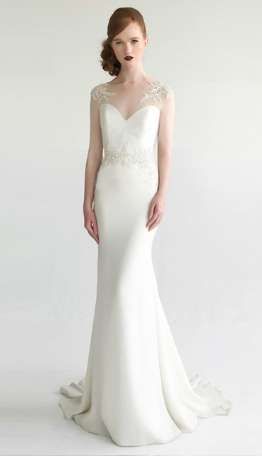Silk crepe modern wedding dress | Odelia by Aria