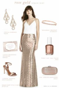 Rose Gold Sequin Skirt for Bridesmaids