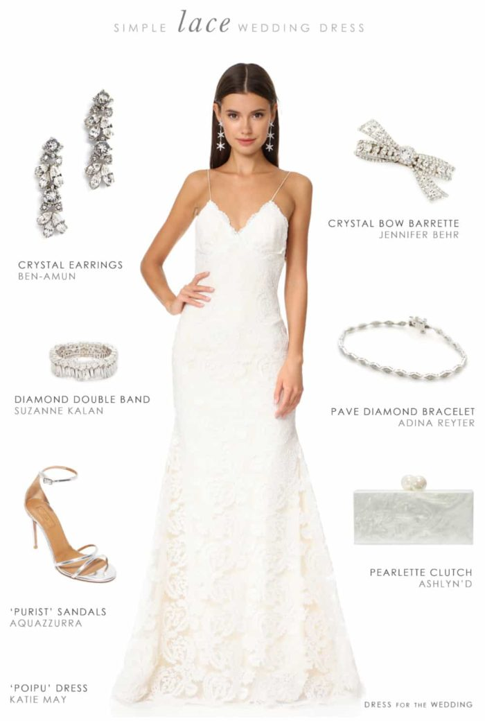 Dress for the Wedding Simple Lace Wedding Dress