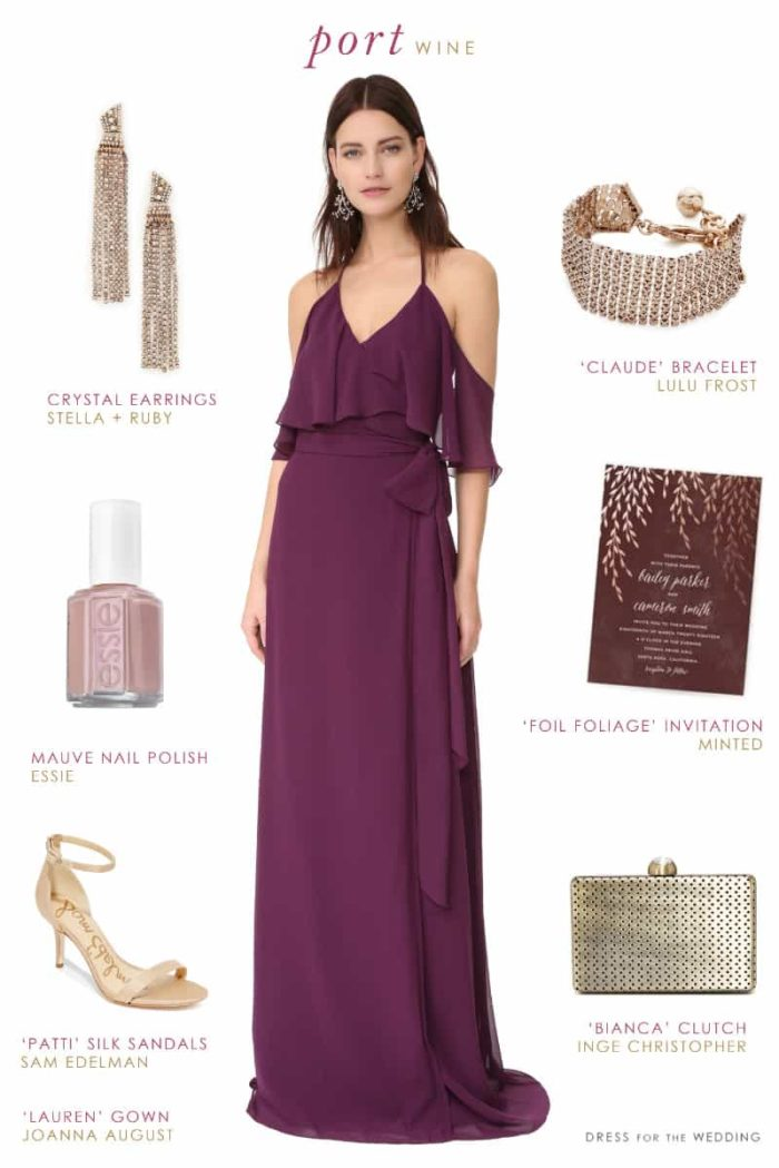 Wine Bridesmaid Dress