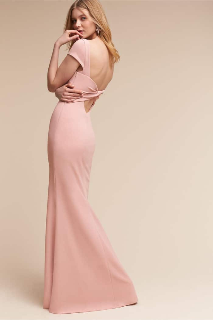 Blush maxi dress with twist back