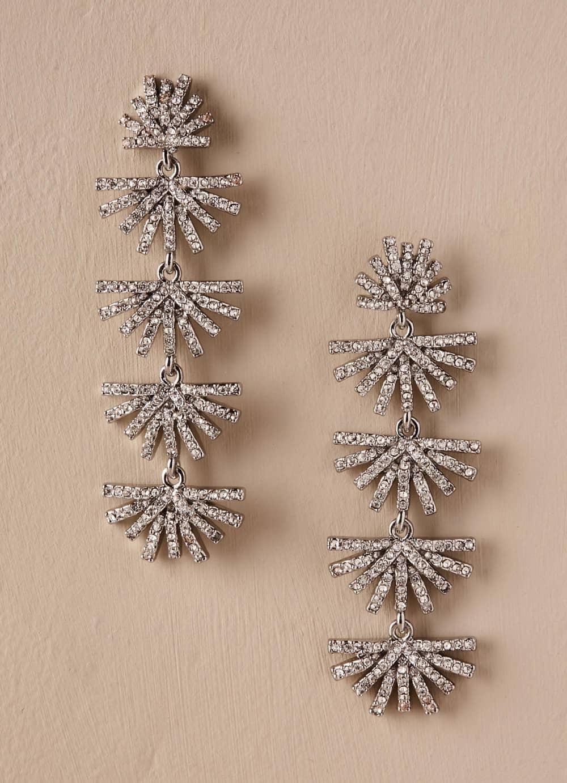 Sparkling silver crystal chandelier earrings dress for the wedding sparkling silver crystal chandelier earrings arubaitofo Choice Image