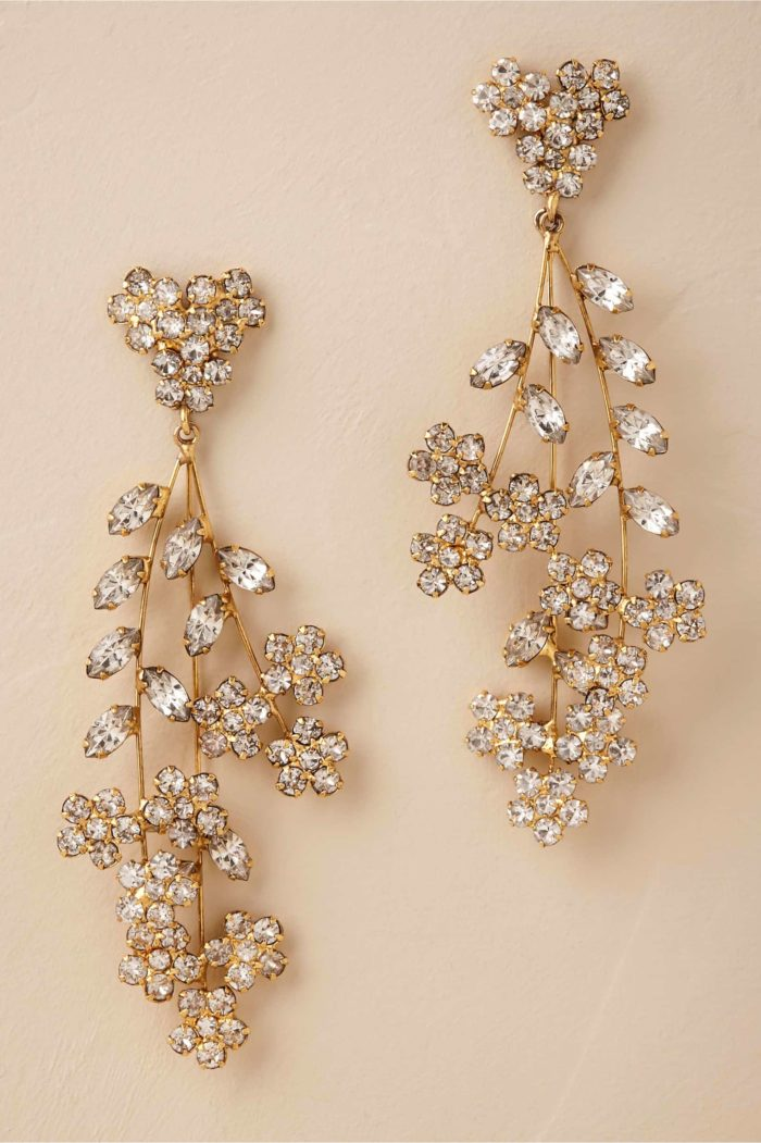 Dramatic Gold Bridal Earrings Dress For The Wedding