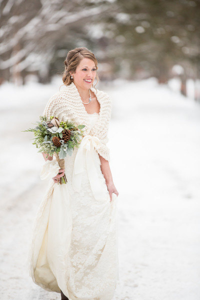 Cozy cover ups and shawls for a winter bride dress for for Shawls for wedding dresses