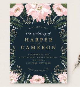 October Sale on Wedding Invitations (and Holiday Cards) at Minted!