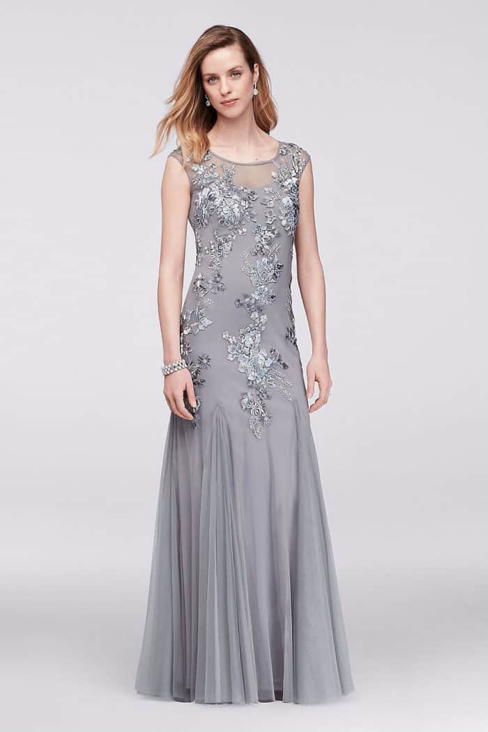 Dress for the wedding wedding guest dresses bridesmaid for Silver wedding dresses for sale