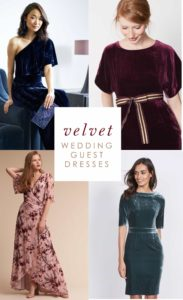 Velvet Dresses for Wedding Guests