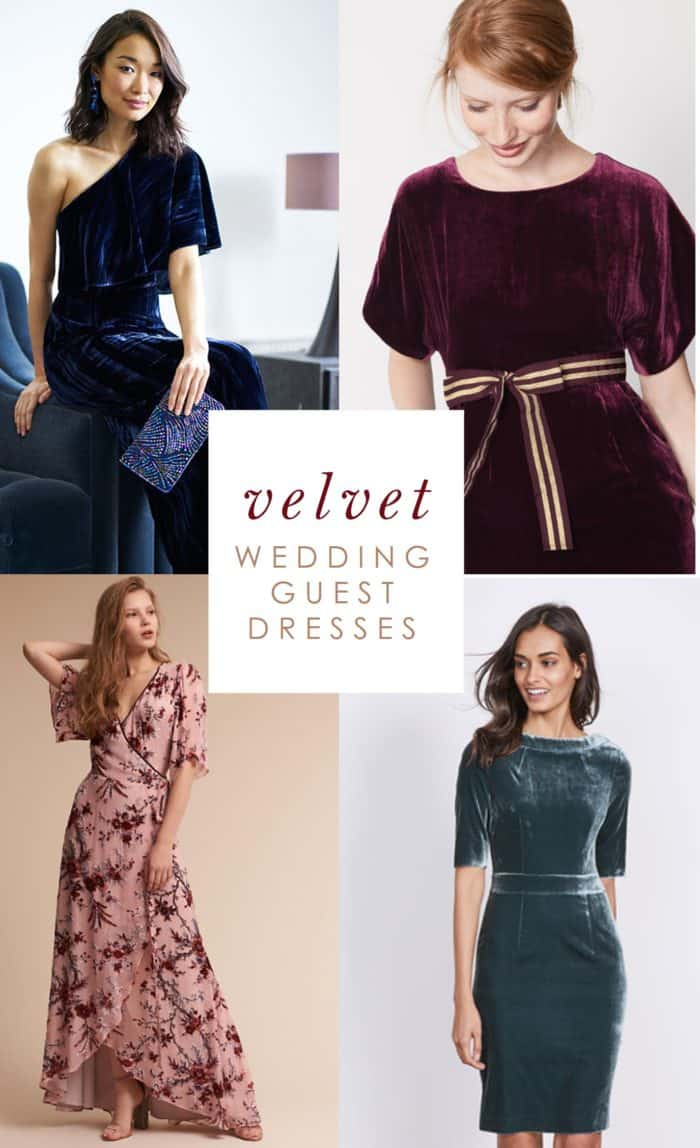 Velvet Dresses to Wear as a Wedding Guest