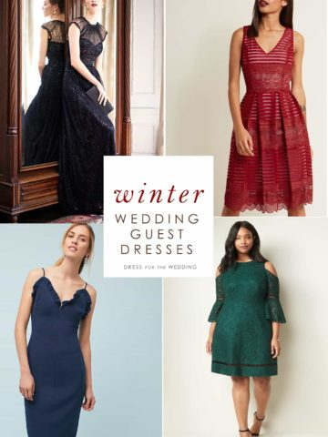 Dresses for Winter Wedding Guests