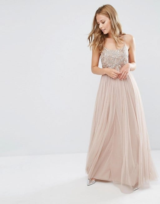 Embellished Top Bridesmaid Dress