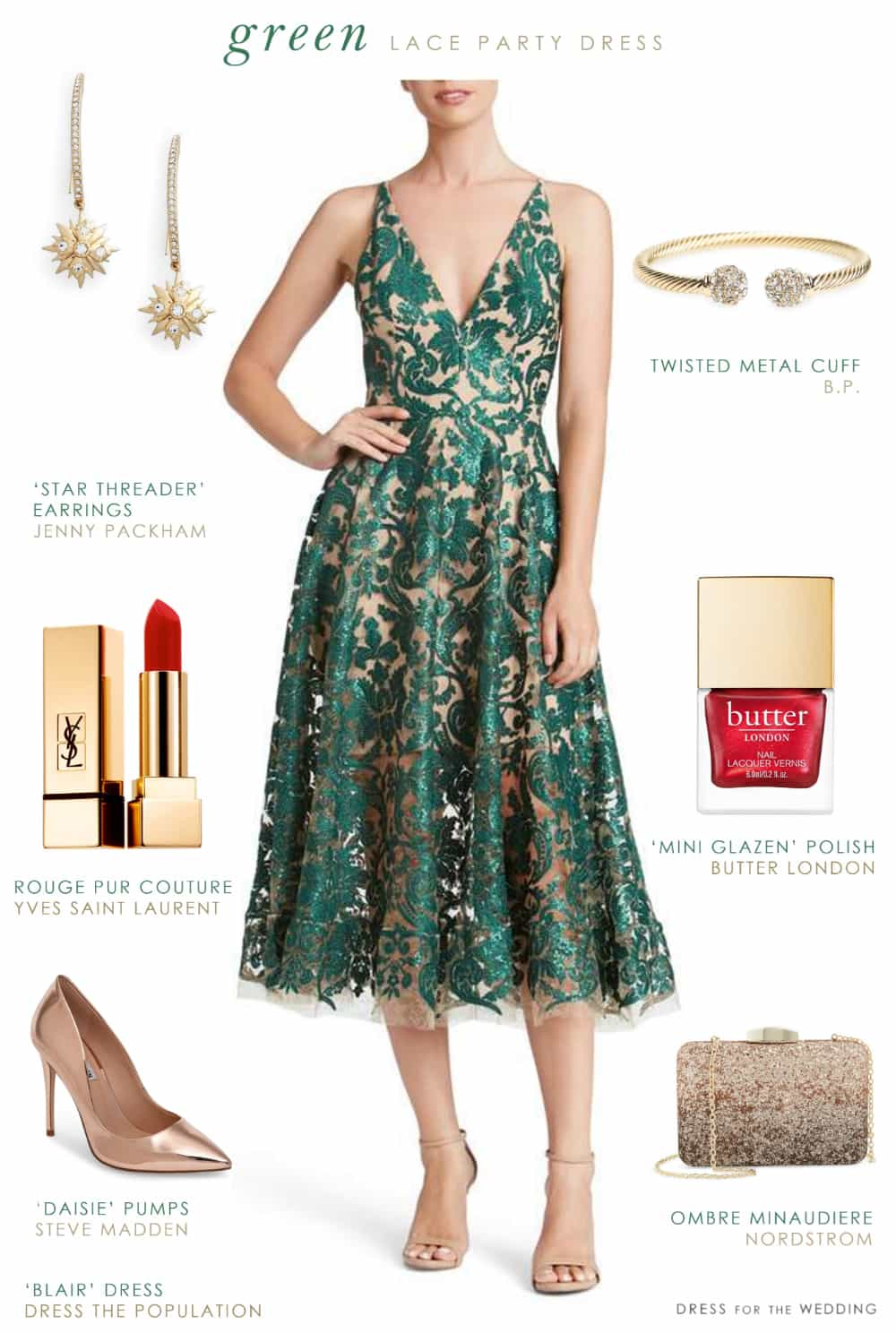 Semi formal wedding attire archives at dress for the wedding semi formal wedding attire green lace party dress junglespirit Image collections