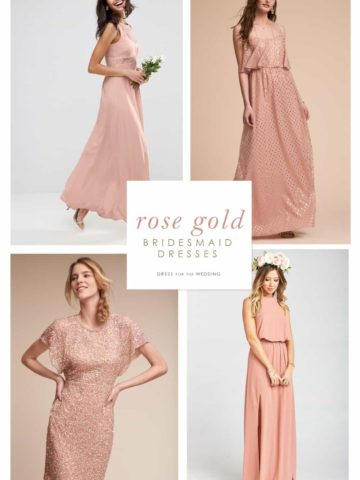 Where to find bridesmaid dresses in Rose Gold