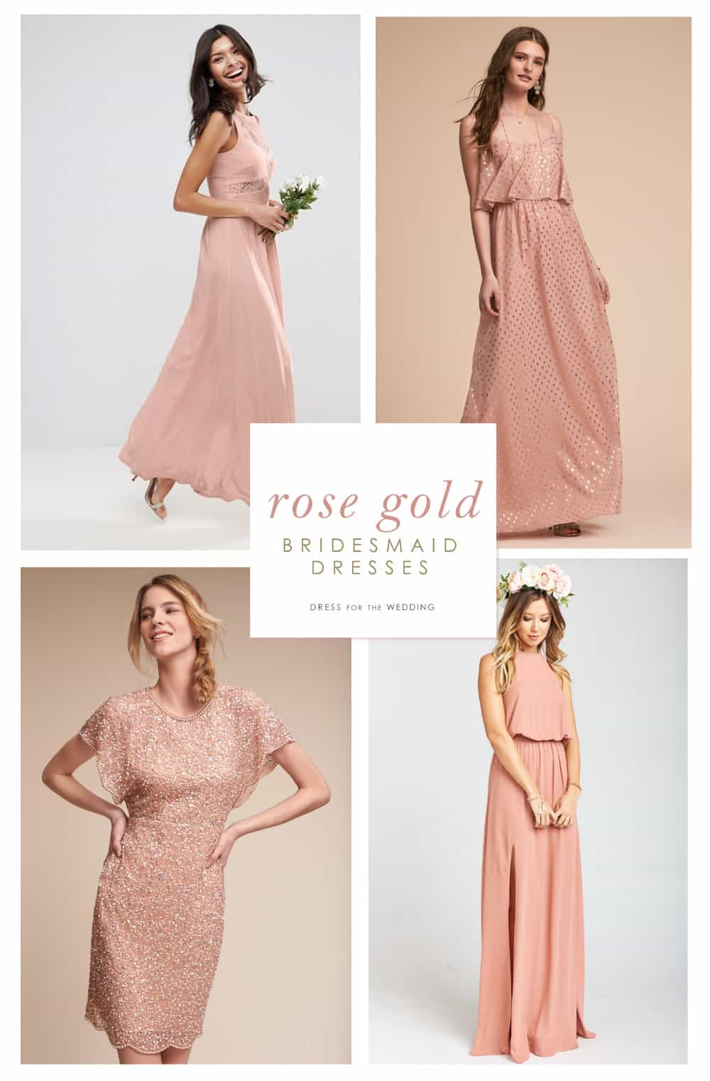 Rose gold bridesmaid dress ombrellifo Images