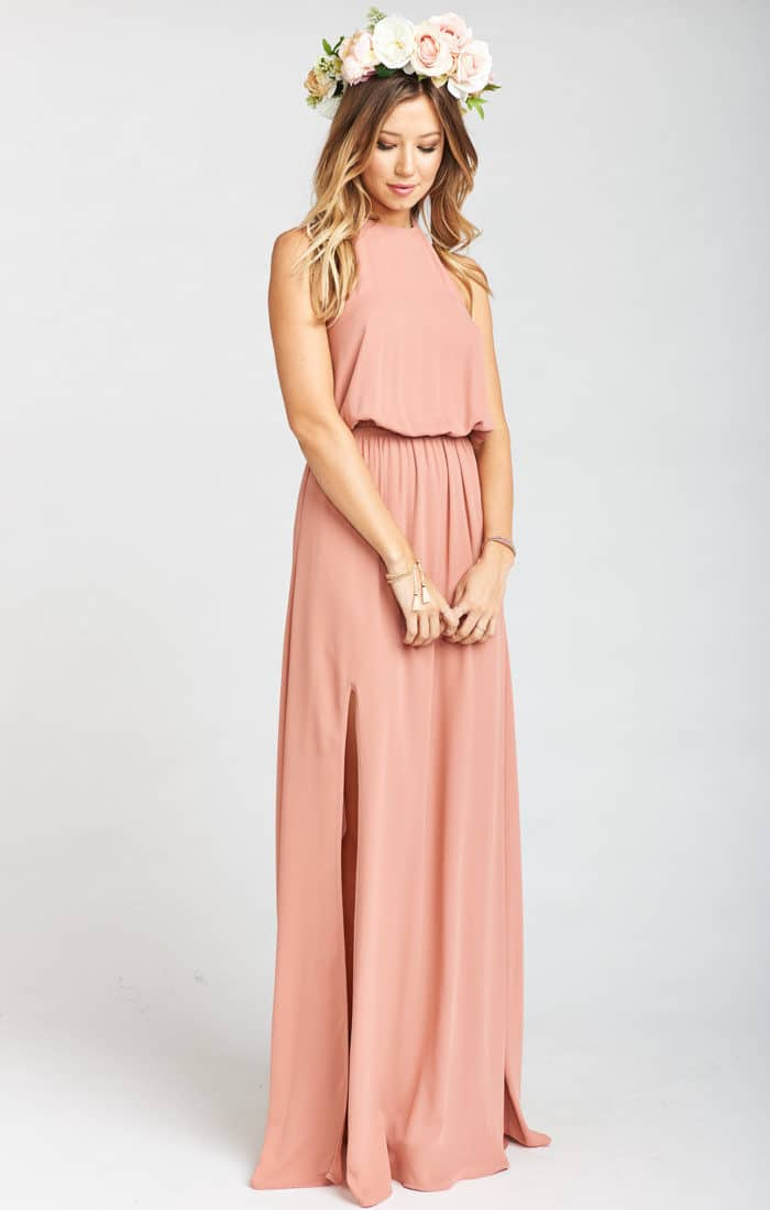 Boho rose gold maxi dress | Rusty Rose Maxi Dress from Show Me Your Mumu