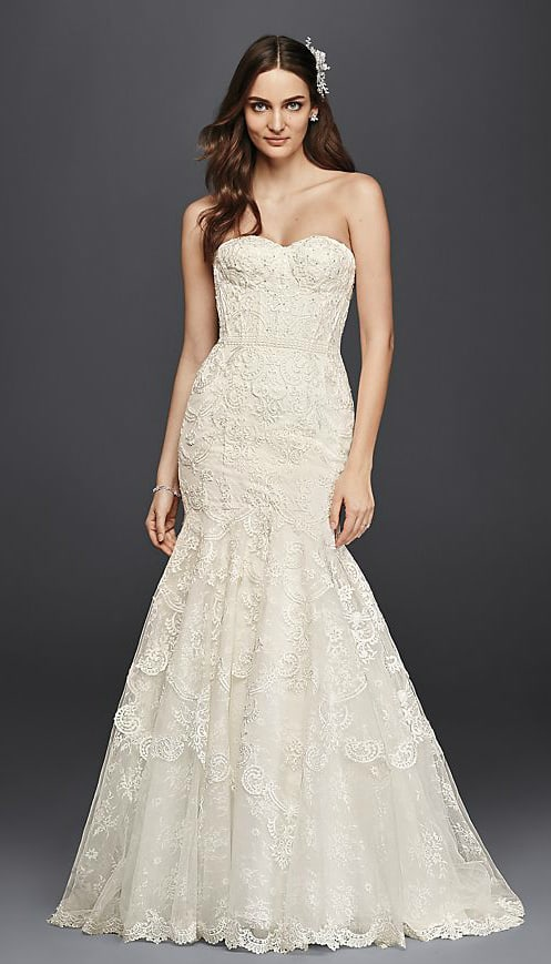 strapless mermaid wedding dresses strapless ivory lace corset mermaid lace wedding dress 7720
