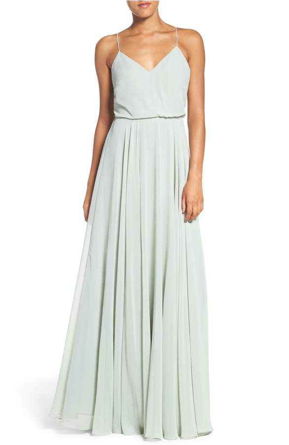 blue mint beach bridesmaid dres