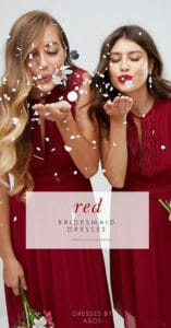 red dresses for bridesmaids
