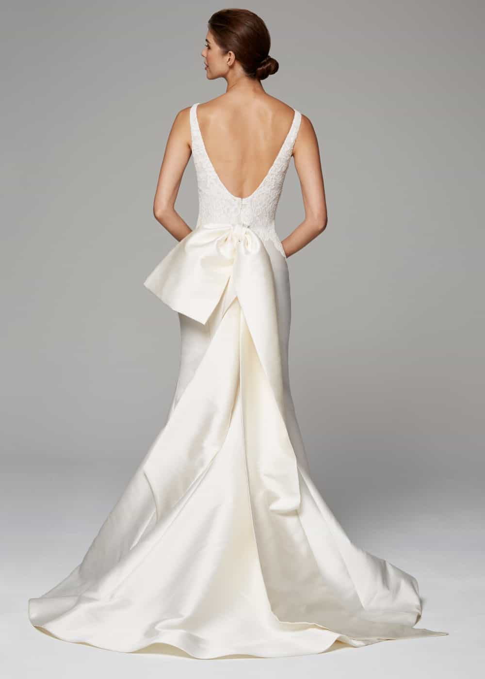 bow back wedding dress celine anne barge 2018