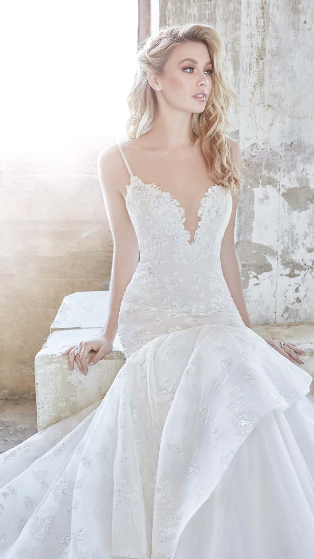 Ronnie - a fit to flare Hayley Paige wedding dress