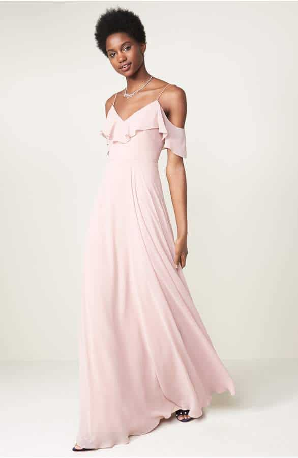 pink beach bridesmaid dresses