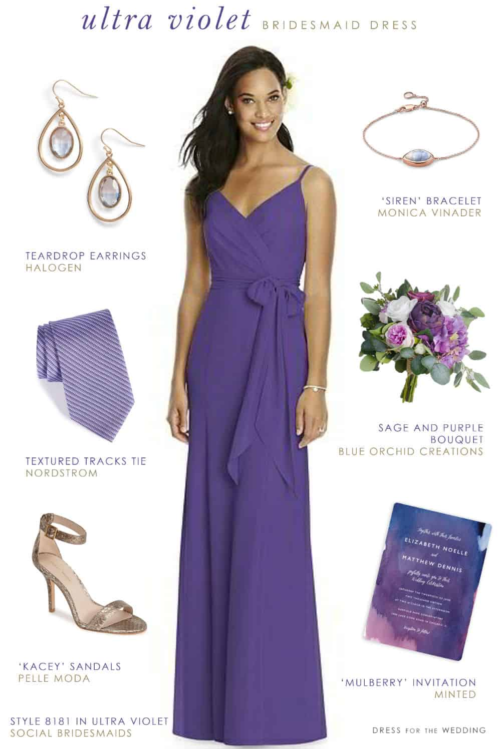 Ultra Violet Bridesmaid Dress | Dress for the Wedding