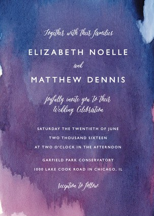 ultra violet wedding invitations
