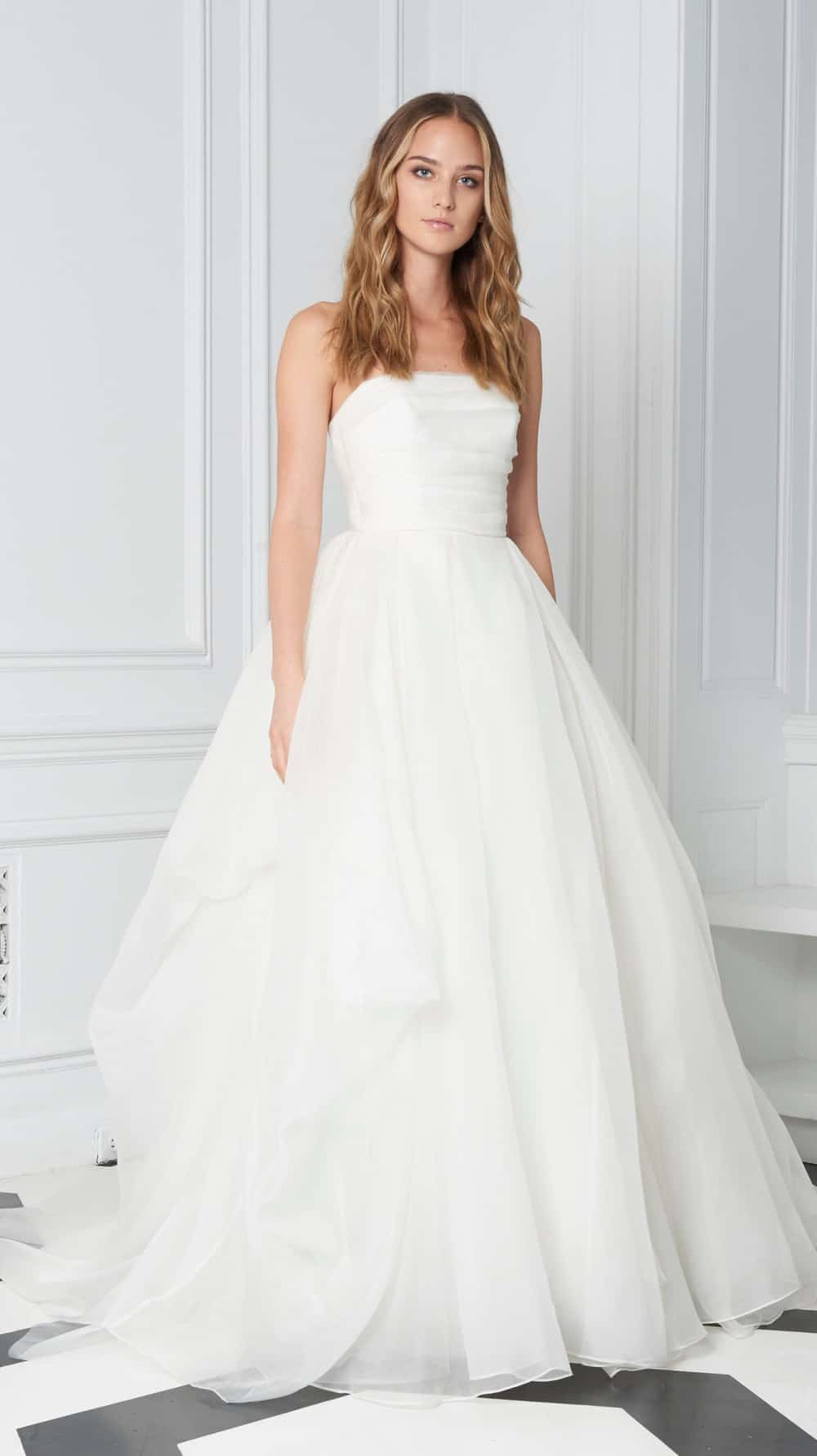 strapless ball gown wedding dress bliss monique lhuillier fall 2018